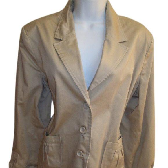 Jessica Beige Jacket Blazer Size 14